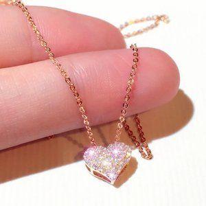 Diamond CZ Heart Necklace